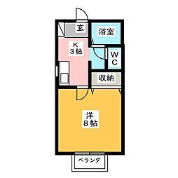 コータス葵[1階]の間取り