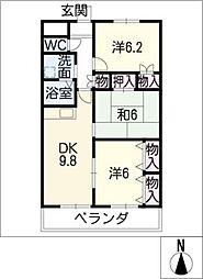 シェモア明正Ⅱ[1階]の間取り