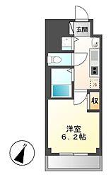プレサンス名古屋STATIONビジュ[4階]の間取り