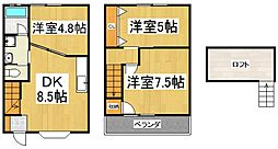 [タウンハウス] 東京都東村山市秋津町3丁目 の賃貸【/】の間取り