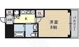 阪急千里線 豊津駅 徒歩3分の賃貸マンション 1階1Kの間取り