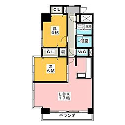 ROSE TOWER 元今泉[14階]の間取り