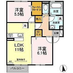 (仮)D-room出雲市大津町A[2階]の間取り
