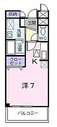 東京都昭島市玉川町2丁目の賃貸アパートの間取り