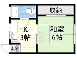 第二マンション[2階]の間取り