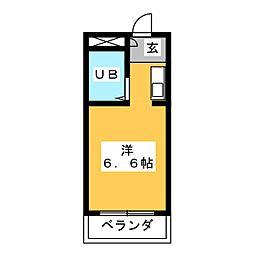 ドール豊[3階]の間取り