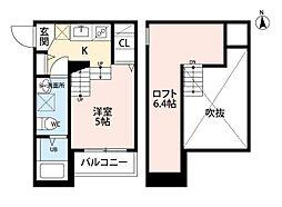 プランタン 六本松[1階]の間取り