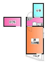 東京都北区志茂2の賃貸アパートの間取り