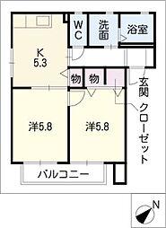 エトワールH.K[1階]の間取り