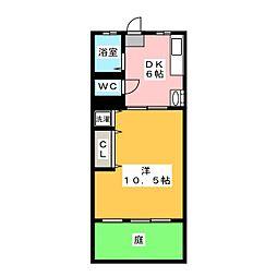 愛知県名古屋市昭和区下構町2丁目の賃貸マンションの間取り