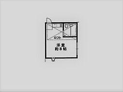 パレス甲東園[201号室]の間取り