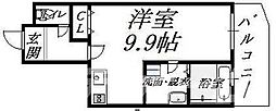 Osaka Metro御堂筋線 天王寺駅 徒歩5分の賃貸マンション 10階1Kの間取り