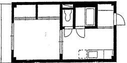 メル鵠沼[3階]の間取り