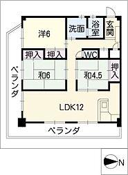 コーポ和幸苑[3階]の間取り