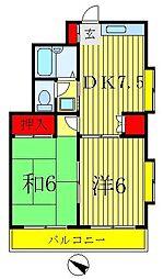 メゾン エトワール[3階]の間取り