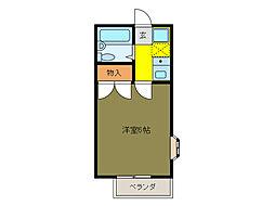タイセイ第2コーポ[2階]の間取り