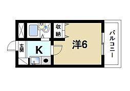 奈良県奈良市西大寺新町1丁目の賃貸マンションの間取り