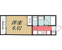 JR成田線 成田駅 徒歩17分の賃貸アパート 1階1Kの間取り