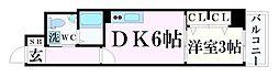 神戸市海岸線 みなと元町駅 徒歩2分の賃貸マンション 13階1DKの間取り
