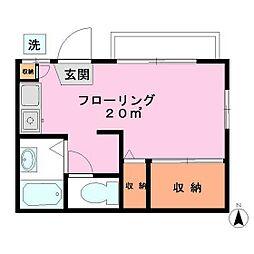 三浦アパート[102号室]の間取り