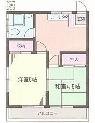 吉川コーポ[2階]の間取り