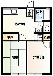シティハイムアケボノB[1階]の間取り