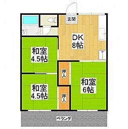 大阪府堺市中区深井清水町の賃貸アパートの間取り