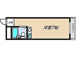 ピースハイツ長堂A棟[3階]の間取り