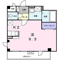 ニュー ハーモニー[3階]の間取り