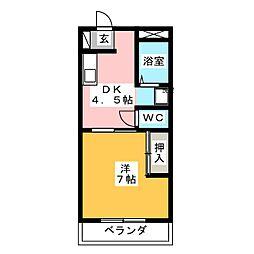 ジュネス喜多山[2階]の間取り