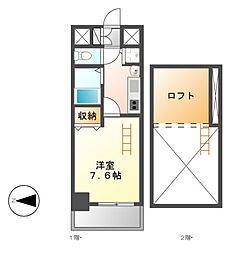 プレサンス名古屋駅前アクシス[3階]の間取り