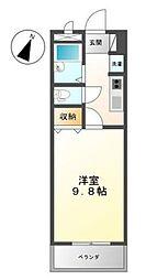 広島県福山市旭町の賃貸アパートの間取り