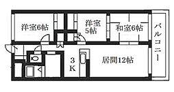 北海道札幌市清田区清田三条2丁目の賃貸マンションの間取り