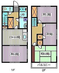 [テラスハウス] 埼玉県さいたま市南区白幡1丁目 の賃貸【埼玉県 / さいたま市南区】の間取り
