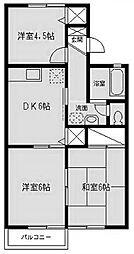 メゾンヴェールII[2階]の間取り