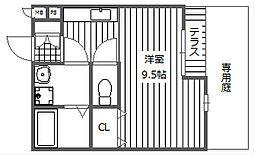 大阪府高槻市北園町の賃貸アパートの間取り