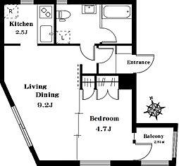 TSIATAGO 2階1LDKの間取り