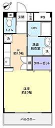 ソエダマンション弐番館[2階]の間取り