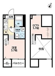 TATERU Apartment東山町IID棟[1階]の間取り