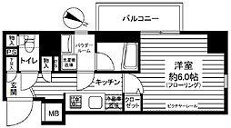 JR山手線 大塚駅 徒歩12分の賃貸マンション 4階1Kの間取り