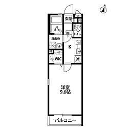 wisteria[101号室]の間取り