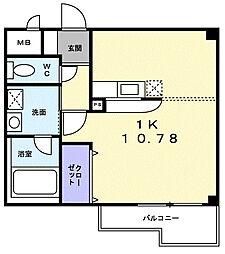 グレイシャス上田[2階]の間取り