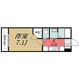 JR内房線 八幡宿駅 徒歩5分の賃貸アパート 1階1Kの間取り