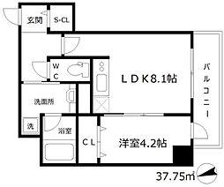 フォルテ福島[5階]の間取り