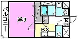 ウエストヒル21[101 号室号室]の間取り