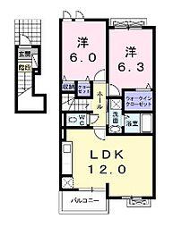 リバーサイド桜II[1階]の間取り