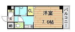 ウイングコート東大阪[5階]の間取り