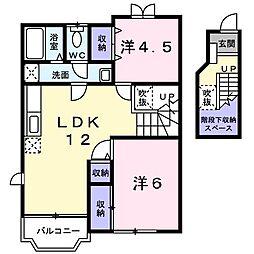 パークヴィラA棟[2階]の間取り