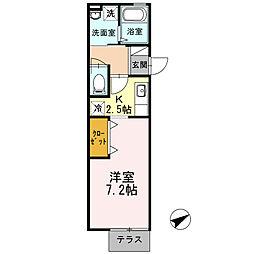 JR東海道本線 戸塚駅 バス23分 横浜薬大南門下車 徒歩2分の賃貸アパート 1階1Kの間取り