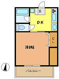 埼玉県さいたま市中央区上落合4丁目の賃貸マンションの間取り